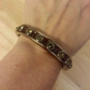 Givenchy Vintage Brown Rhinestone Bangle  Bracelet